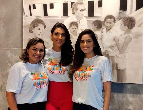 Meus amores Mara Lorena, Juli Maia e Larissa: três milhões de vivas